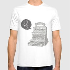 cash register Mens Fitted Tee White SMALL