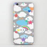 Clouds and Rainbows Kawaii iPhone & iPod Skin