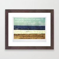 The Cure For Anything Framed Art Print