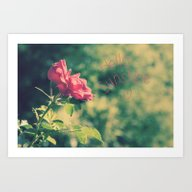 A Pink Rose For You Art Print