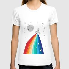 Magic Rocket Womens Fitted Tee White SMALL