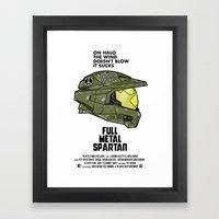 Full Metal Spartan Framed Art Print