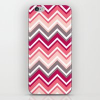 Pink Zig Zag iPhone & iPod Skin