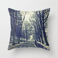 A Walk Through The Park … Throw Pillow