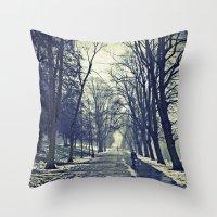 A walk through the park I Throw Pillow
