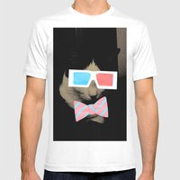 Hip Cat Mens Fitted Tee White SMALL