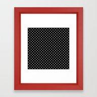 Earth Noir Pattern Framed Art Print