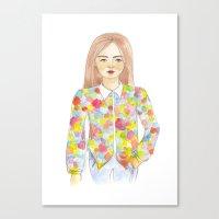 The colourful shirt Canvas Print