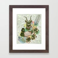 Duck, Deer & Dogs Framed Art Print