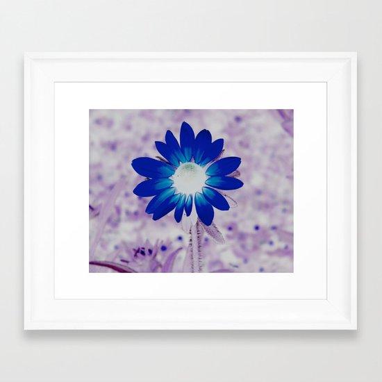 bolt of blue Framed Art Print