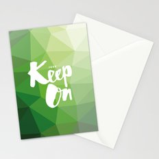 Just Keep On Stationery Cards