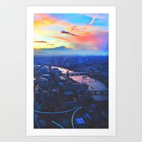 London Skyline COLOR Art Print