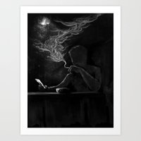 Twisted Reflection Art Print