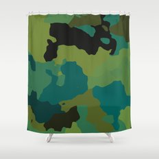 Colorful Camo Shower Curtain