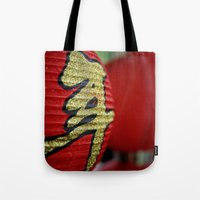 Red Chinese Lanterns Tote Bag