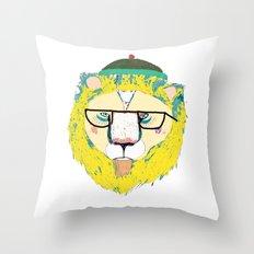 Mr Lion Throw Pillow