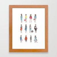 Favorite Sketches Framed Art Print