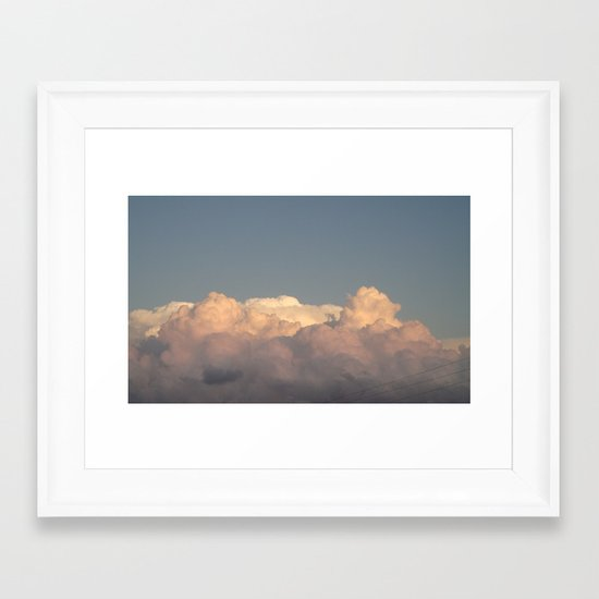 Thick Air Framed Art Print