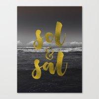 Sol & Sal Canvas Print