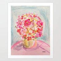 Chinese New Year Flowers Art Print