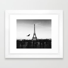 Paris Without Emotion #society6 Framed Art Print