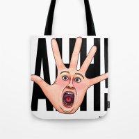 Five Fingered Face Tote Bag