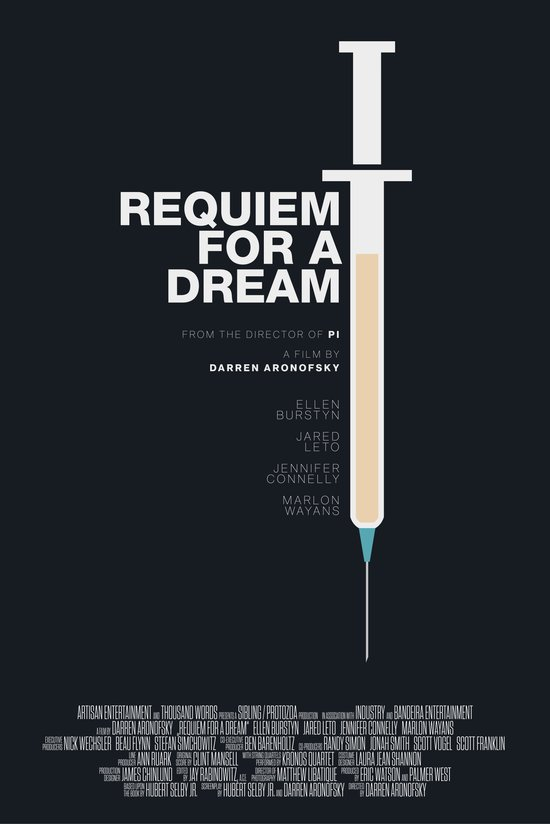Requiem For A Dream – Minimal Movie Poster – revised Art ...