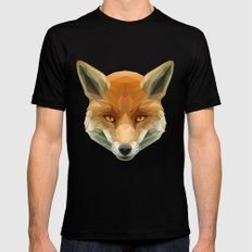 Poly the Fox Mens Fitted Tee Black SMALL
