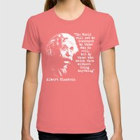 Albert Einstein Womens Fitted Tee Pomegranate SMALL