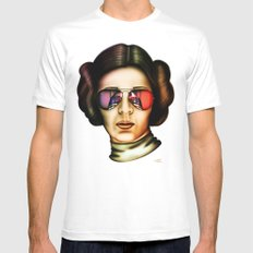 STAR WARS Princess Leia  Mens Fitted Tee White SMALL