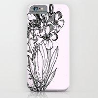 flower in black ink iPhone 6 Slim Case