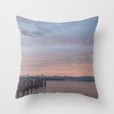 Starnbergersee at dawn Throw Pillow