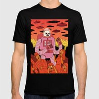 Alien Invader  Mens Fitted Tee Black SMALL