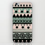 iPhone & iPod Skin featuring PASTEL NORDIC TRIBAL  by Nika
