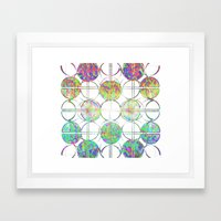 Refraction Tiles Framed Art Print