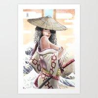 Samurai Den Art Print