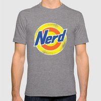 Nerd Mens Fitted Tee Tri-Grey SMALL