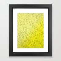 Neon Yellow Ombre Cotton… Framed Art Print