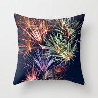 Sparkling City Throw Pillow