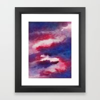 Clouds - abstract watercolor 01 Framed Art Print