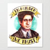 In Mulder We Trust Canvas Print