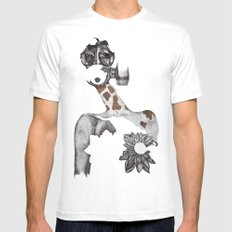 Anabelle White Mens Fitted Tee SMALL