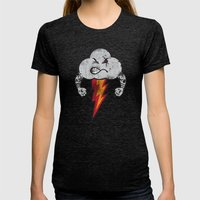 Bad Weather Womens Fitted Tee Tri-Black SMALL