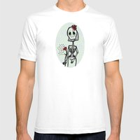 Love And Bones Mens Fitted Tee White SMALL