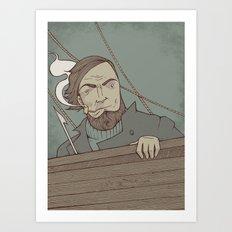 Ahab and the Whale Art Print