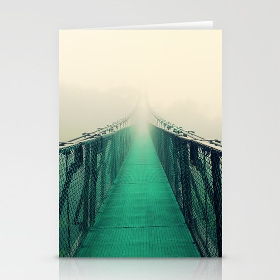 suspension bridge Stationery Card