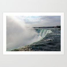 Water waterfall 5 Art Print