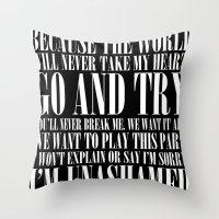 Black Parade Throw Pillow