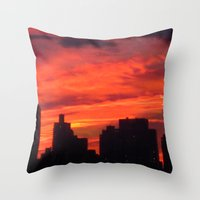 City Sunset Throw Pillow
