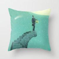 Moon Steps Throw Pillow